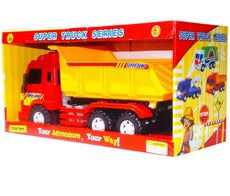 Big-Daddy Meduim Duty Friction Powered Construction Dump Truck With Dump Lever Dump Truck!