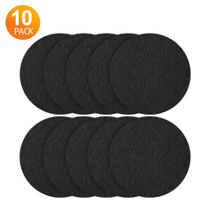 QPAU Compost Bin Filters Charcoal,10 Pack Activated Carbon Compost Pail Replacement Filters for Odor Absorbing (Black-7.25in)