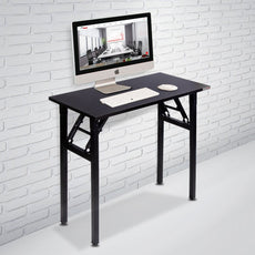 "Need Small Computer Desk Folding Table 31 1/2"" Length No Assembly Sturdy and Heavy Duty Writing Desk for Small Spaces and Small Folding Desk -Damage Free Deliver(Black Walnut) AC5CB8040 Black Walnut Desktop & Black Frame 31.50""L * 15.75""W * 29.25""H"