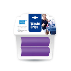 Grand Fusion Housewares Waste Grips 2 Pack Silicone Trash Can Grips - Purple, Soft Ergonomic Grips for Outdoor Trash Cans, Easy to Remove and Clean - Helps Keep Hands Germ Free