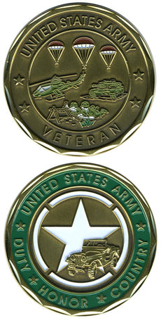 Collectible Veteran Service Army Coin US Army Coins Military Gifts for Men Women by EC