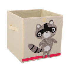 Murtoo Storage Bins Foldable Fabric Cubes Organizer for Kids Toys, Raccoon, 11""