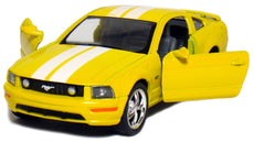 "5"" 2006 Ford Mustang GT with Stripes 1:38 Scale (Yellow)"