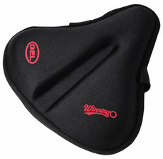 Winningo Exercise Gel Bicycle Saddle Cover Wide Cycling Seat Cushion for Wide Bike Saddle Large Bicycle Seat Pad Black-XL