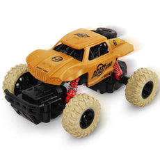 SAIBAIQI Pull Back Monster Trucks For Boys Kids, Vehicle Toy With 4 Independent Shock Springs, 4 Wheel Drive Friction Powered Monster Truck Race Car Gift for Age 3-7 Year Olds Toddlers Girls Baby Style B