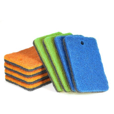 Esonmus Multi-Use Scrunge Scrub Sponge (Pack of 8)