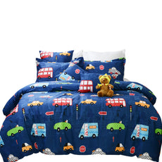 Brandream Boys Bedding Set Twin Size/Twin XL Blue Cars Pattern Toddler Kids Duvet Cover Set 3-Piece(No Comforter Included) Twin/Twin XL