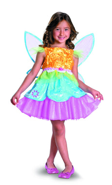 Sugar Shock Fruity Tutti Fairy Deluxe Costume, Pink/Blue/Peach, XS-3T-4T