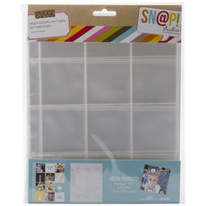Simple Stories Snatp! Insta Pocket Pages for 6 by 8-Inch Binders with 2 by 2-Inch Pockets, 10-Pack
