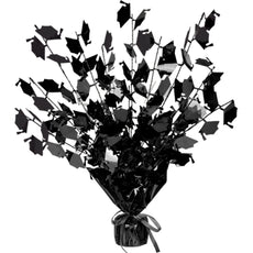 Graduate Cap Gleam 'N Burst Centerpiece (black) Party Accessory  (1 count) (1/Pkg)