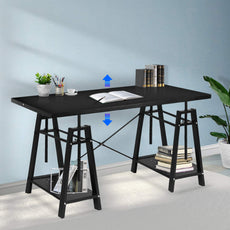 JOO LIFE  Trestle Desk Black
