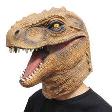CreepyParty Novelty Halloween Costume Party Animal Jurassic Head Mask Dinosaur