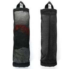 Betan Plastic Bag Holder Dispenser Hanging Folding Mesh Garbage Bag Organizer Trash Bags Holder Recycling Containers Plastic Waste Bag Storage Kitchen (Black-2pcs)