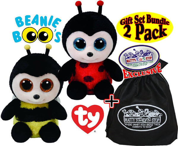 Ty Beanie Boos Buzby (bumble Bee)   Izzy (lady Bug) Gift 70bbc6dfbe62