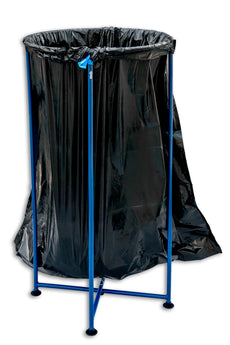 PortoTrash Steel Foldable, Portable Trash Receptacle, Blue