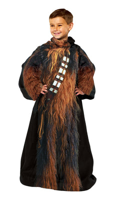 "Star Wars,Being Chewbacca Youth Fleece Comfy Throw Blanket with Sleeves, 48"" x 48"" Being Chewbacca"