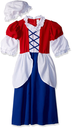RG Costumes Child Deluxe Betsy Ross Costume Red/Blue/White Small