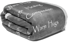 "Compassion Blanket - Cancer Support Blanket Get Well Support for Women Men by Wolf Creek Blanket | Warm Hugs Healing Thoughts Positive Energy Courage Soft Fluffy Caring Throw-Gray (50"" x 65"") Silver Gray"