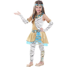 Girls Funky Cleo Cleopatra Costume with leggings Size L 10/12
