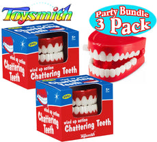 Toysmith Wind Up Chattering Teeth Party Set Bundle - 3 Pack