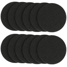 isingo 12 Pack Round Activated Charcoal Filters for Kitchen Compost Bin Pail Carbon Filters Refill Replacement Set, Diameter 6.5 inch, Thickness 10MM