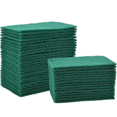 Jetec 40 Pieces Cleaning Scrub Sponge Scouring Sponge Pads Non Scratch Pads for Kitchen Dishes Cleaning, Green