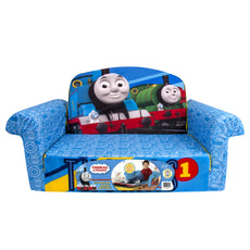 Marshmallow Furniture - Children's 2 in 1 Flip Open Foam Sofa, Thomas Flip Open Sofa