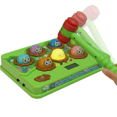 CatchStar Wack A Mole Mouse Fast Reflexes Whack A Mole Game Language Learning Durable Musical Whac Wackamole Educational Toys For Kids Green