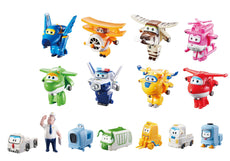 "Super Wings - Transform-a-Bots World Airport Crew | Collector Pack | 15 Toy Figures | 2"" Scale"