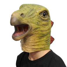 CreepyParty Halloween Costume Party Animal Latex Jurassic Head Mask Dinosaur Stegosaurus