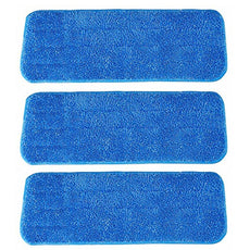 Microfiber Spray Mop Replacement Heads for Wet/Dry Mops Floor Cleaning Pads Fit 14 to16 Inch Compatible with Bona Floor Care System (Pack of 3)