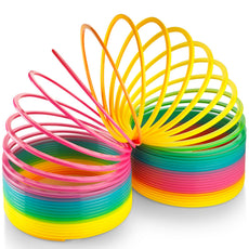 Kidsco JUMBO Rainbow Coil Spring Slinky - For Boys, Girls, Parties, Gifts, & Birthdays - By