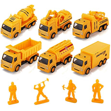 Tuko Mini Toy Cars Pull Back Alloy Die-cast Construction Vehicles for kids Ages 3+