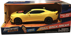 Adventure Force Pull Back Racer - Yellow Chevy Camaro ZL1