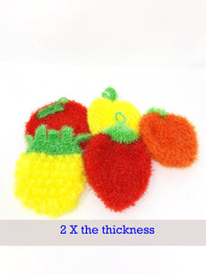 Dish Scrubber for Dishwashing (3 PK Mix or 5PK Mix) / Multi-Use Non-scratch Scrubber Dish Sponge (5 Fruit - 5 PACK) 5 Fruit - 5 PACK