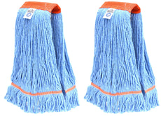 Nine Forty Industrial | Commercial Strength Premium Looped End Floor Cleaning Wet Mop Head Refill | Replacement – Heavy Duty 4 Ply Synthetic Yarn (2 Pack, Large) 2