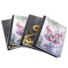 4 x 6 Photo Albums Pack of 4, Each Mini Photo Album Holds Up to 48 4x6 Photos with Black Background Pockets. Flexible, removable covers come in random, assorted patterns and colors.