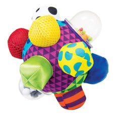 Sassy Developmental Bumpy Ball 6+ Months With Bright Colors, Bold Patterns, and Easy To Grasp Bumps To Help Developing Baby's Motor Skills Blue
