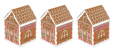 "Beistle S20785AZ3 3-D Gingerbread House Centerpieces 8"", Pack of 3 3 piece"