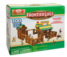 Ideal Frontier Logs 300 Piece Classic Wood Construction Set with Action Figures 1