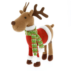 "SCS Direct Reindeer Plush 12"" Christmas Pet Stuffed Doll - Great with Your Holiday Elf"