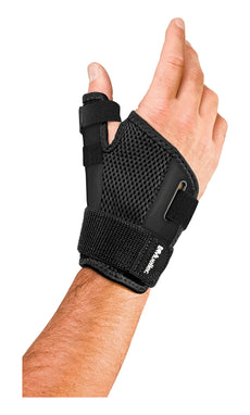 Mueller Sports Medicine Reversible Thumb Stabilizer, Black, Measure Around Wrist- Fits 5.5 - 10.5 Inches (Packaging May Vary)
