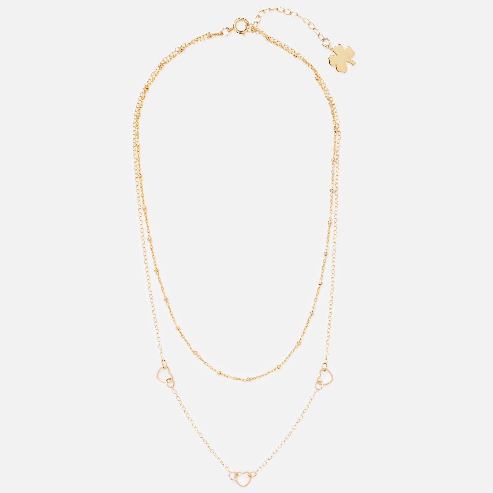 Gold Clover Harts Don't Lie Necklace