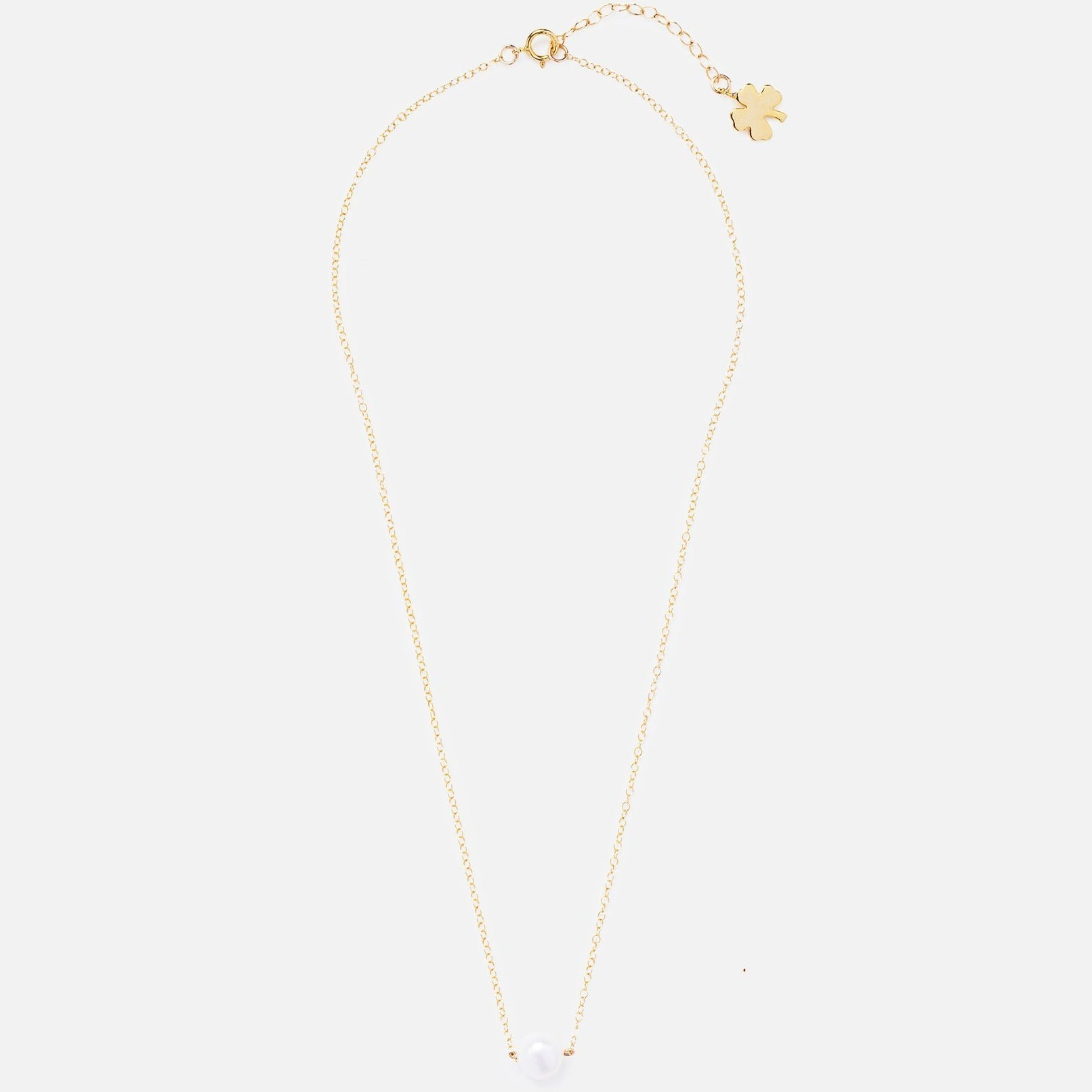 Gold Clover Dot Necklace