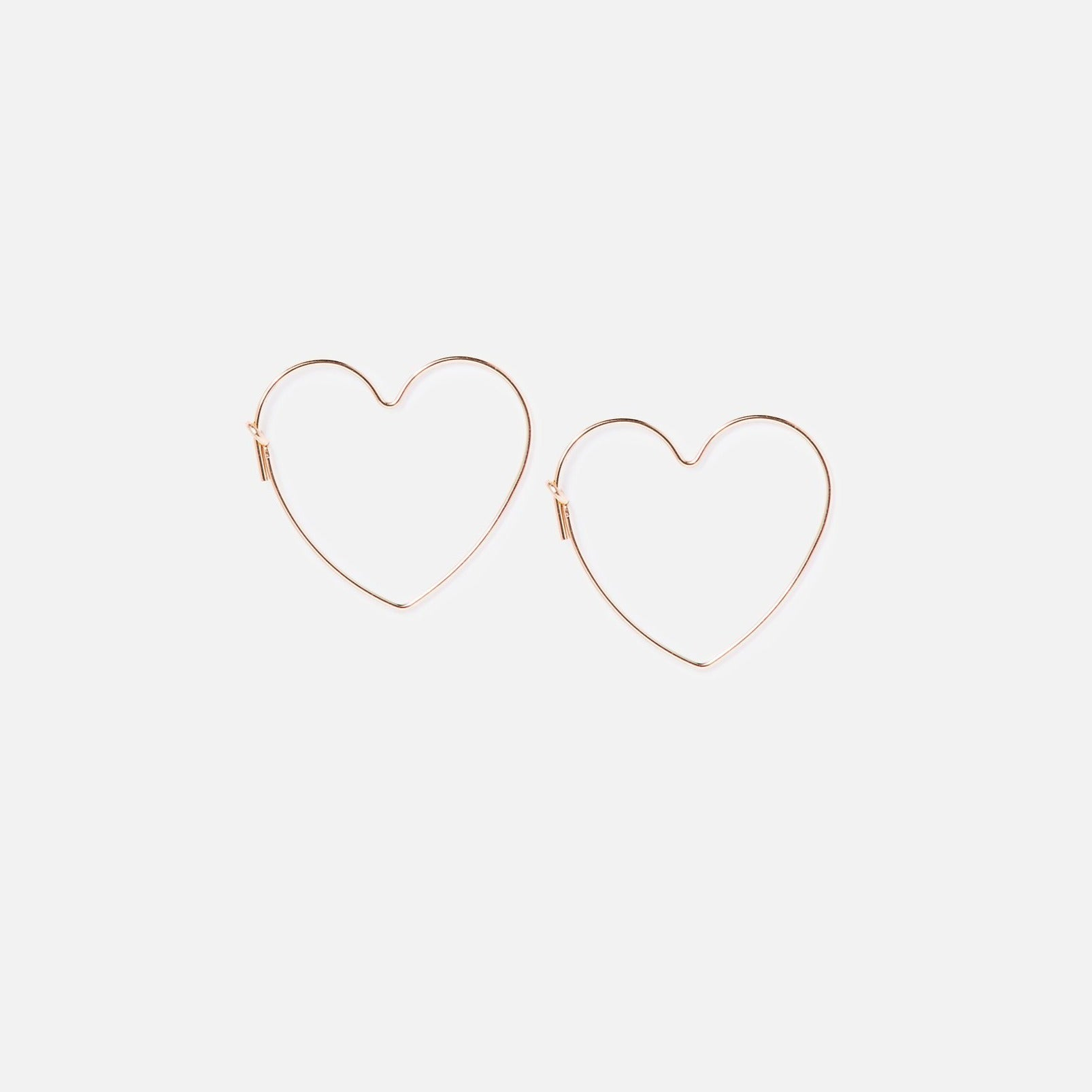 Gold Clover Heart Earrings