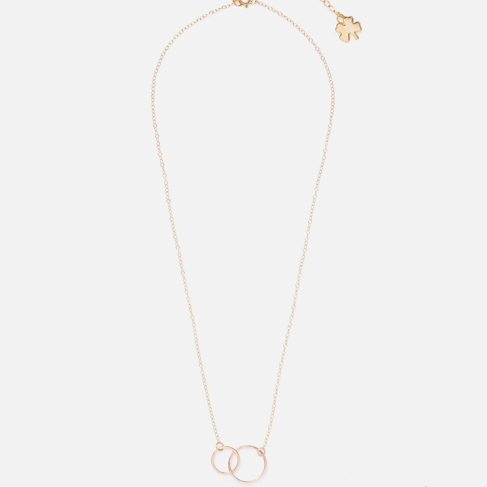 Gold Clover Infinity Necklace