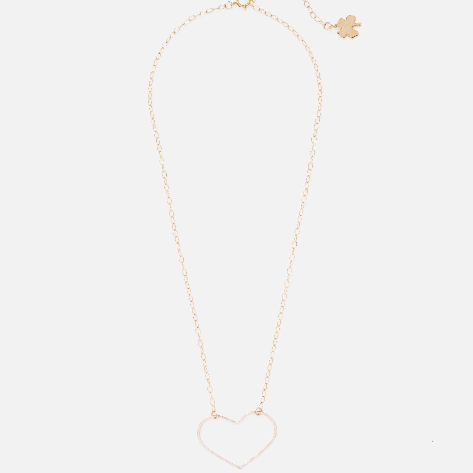 Gold Clover Heart Eyes Necklace