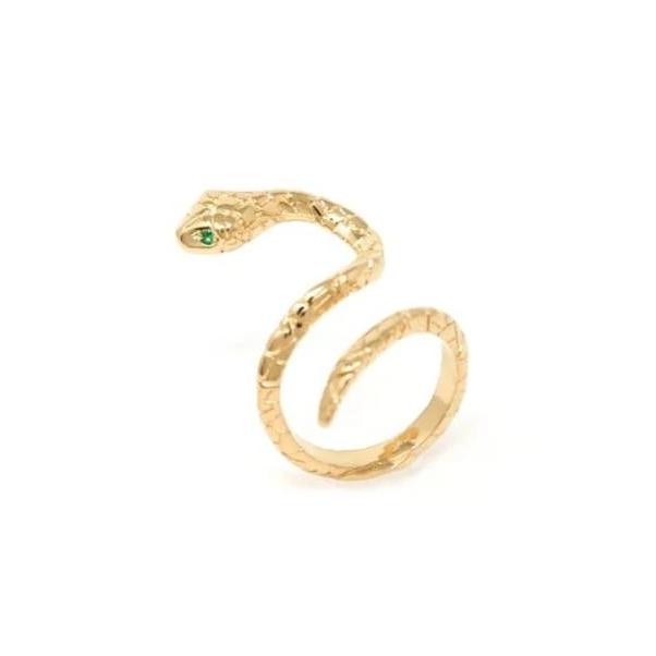 De la Rosa Shooting Stat Texture Snake Ring