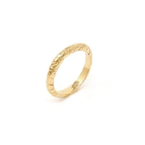 De la Rosa Texture Gold Plated Extension Ring