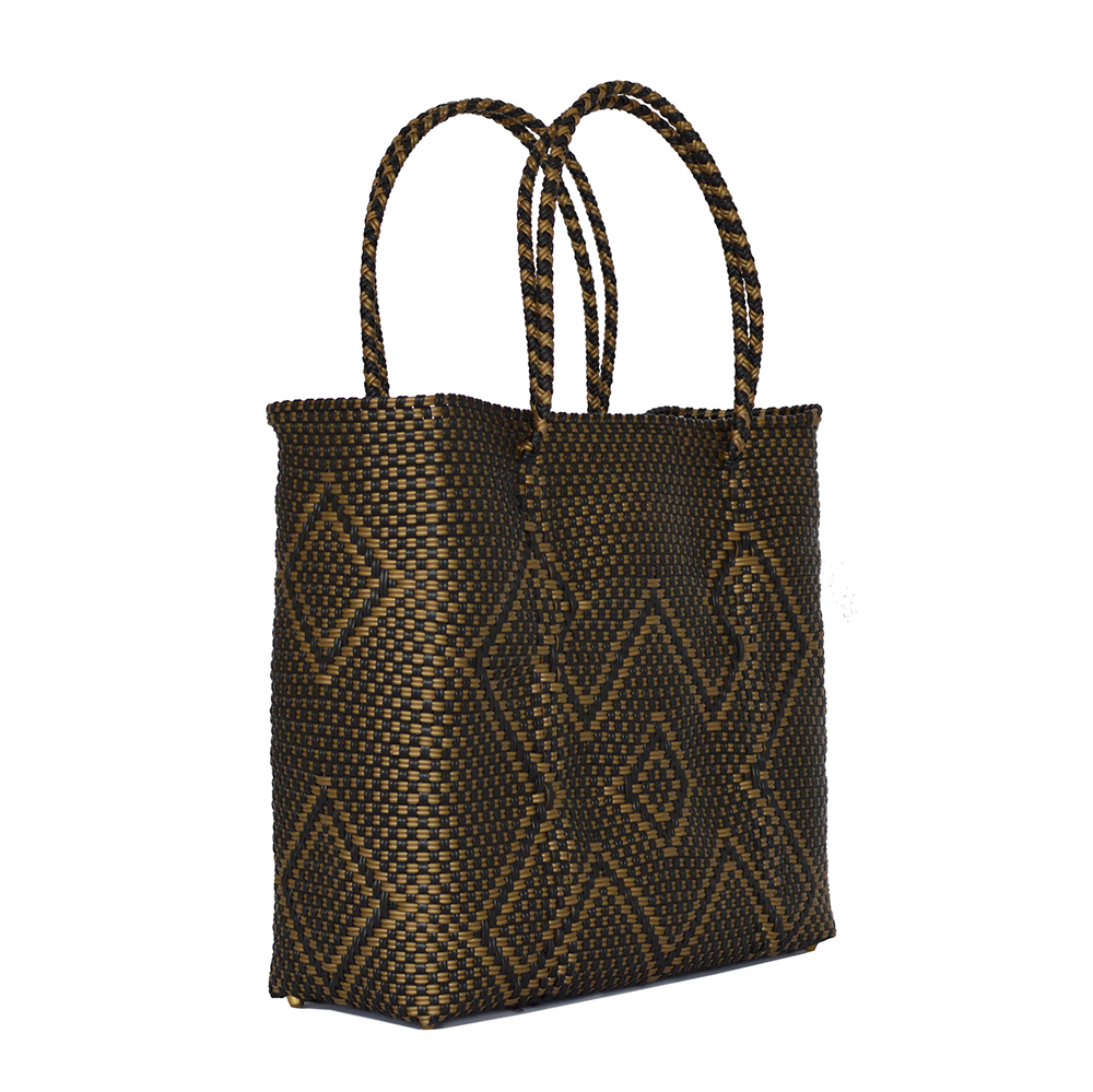 Cangrejo Black/Gold Tote